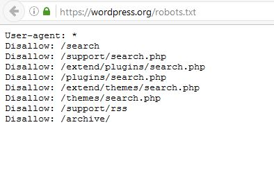 Wordpress's robots.txt code