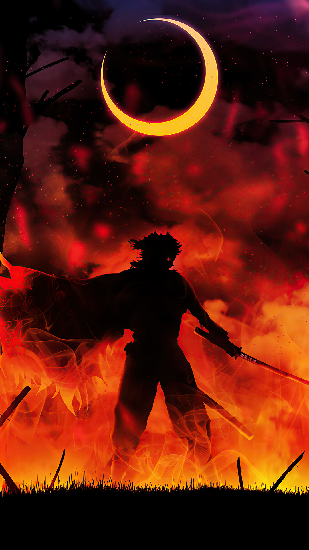 Demon Slayer Kyojuro Rengoku Silhouette