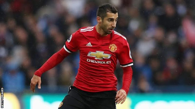 Henrik Mkhitaryan last featured as a substitute in United's 1-0 win over Brighton on 25 November