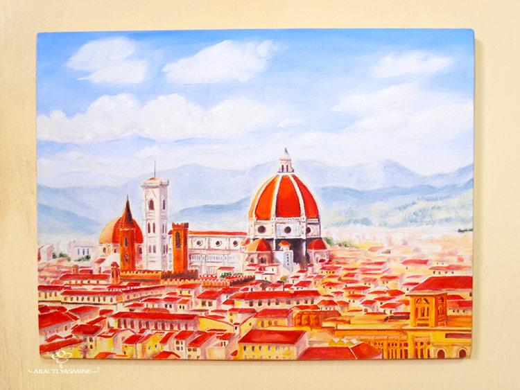 como pintar la catedral de florencia al óleo