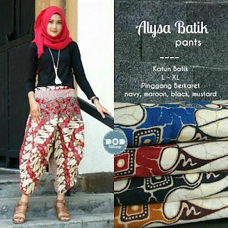 Celana Wanita Motif Batik