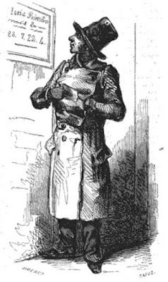 El cesante. Ilustración incluida en Los españoles pintados por sí mismos (1851)