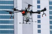 Pemprov DKI Semprot Disinfektan ke Sejumlah Ruas Jalan memakai  Drone