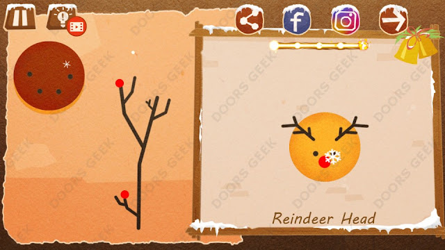 Chigiri: Paper Puzzle Christmas Pack Level 4 (Reindeer Head) Solution, Walkthrough, Cheats