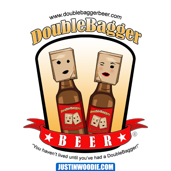 DoubleBagger Beer Graphic Logo Design