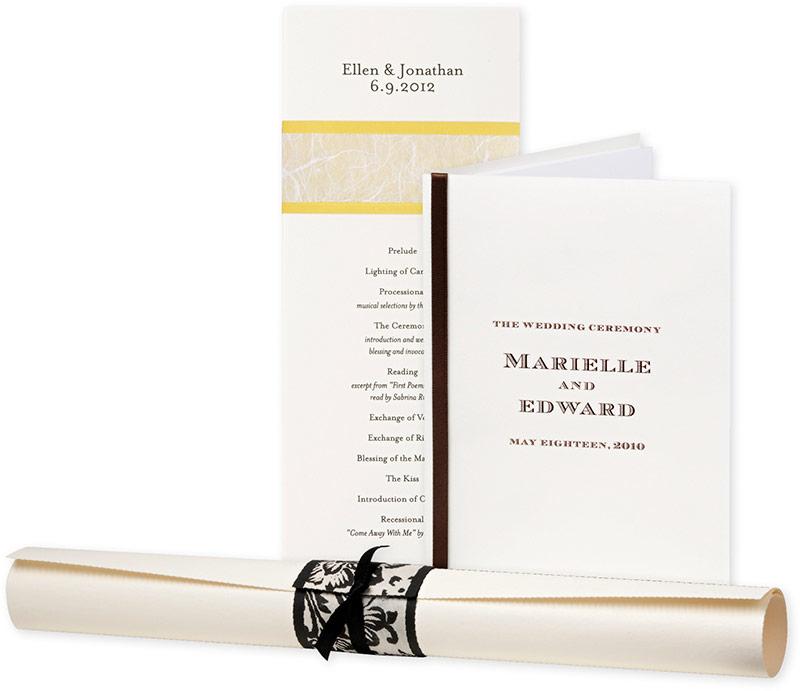 Royal Wedding Accessories: Wedding Program Ideas For The