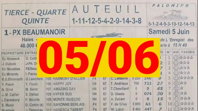 programme quarte samedi 05/06/2021