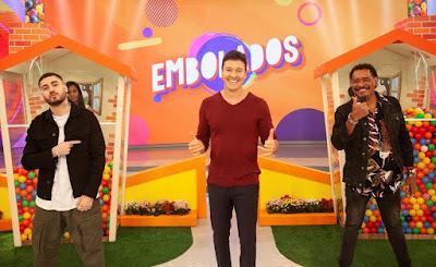 Kevinho, Rodrigo Faro e Compadre Washington. Crédito: Edu Moraes/ Record TV