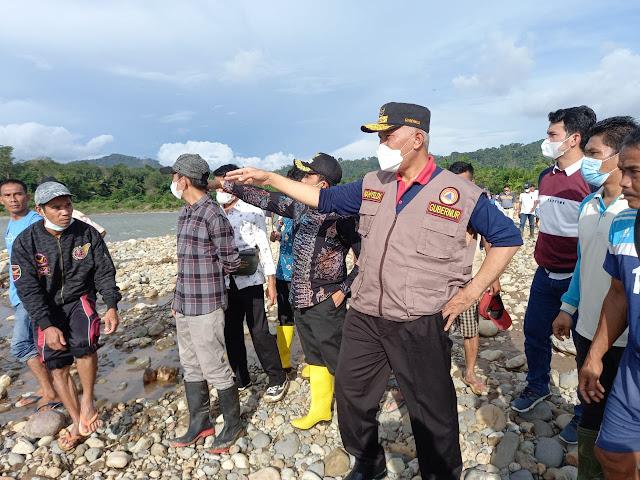 Gubernur Mahyeldi Bersama Wabup Pessel Rudi Hariansyah, Penanganan Banjir Tapan Butuh Dana Rp 1,2 Triliun.