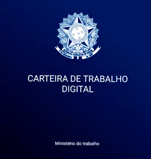 A foto mostra a nova carteira de trabalho digital dos brasileiros. Realmente após a reforma trabalhista só restou a carteira e zero de trabalho.