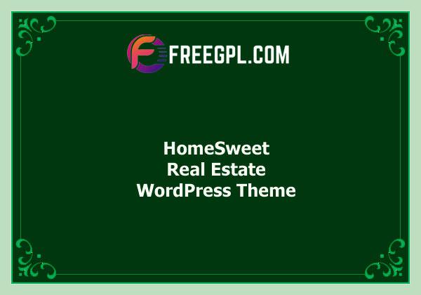 HomeSweet – Real Estate WordPress Theme Free Download