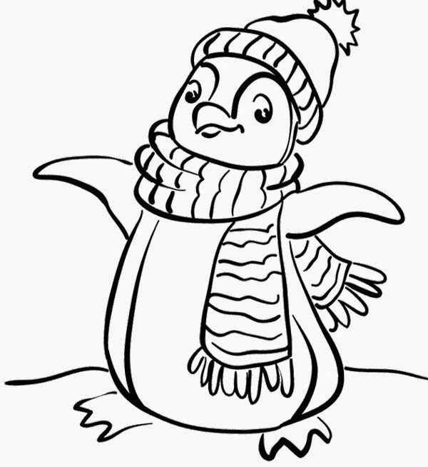 Baby penguin coloring pages ~ colours drawing wallpaper: Cute Baby Penguin Colour ...
