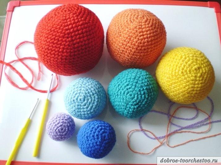 как вязать шары крючком