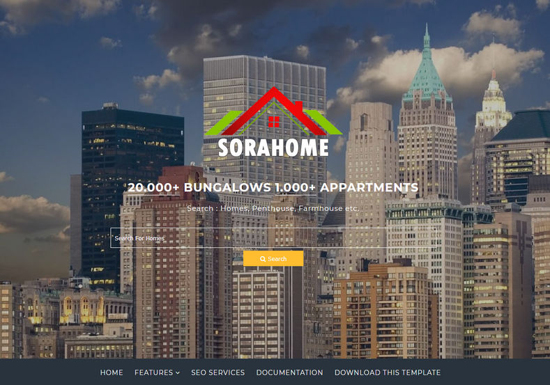 Sora Home - Mẫu blogspot miễn phí