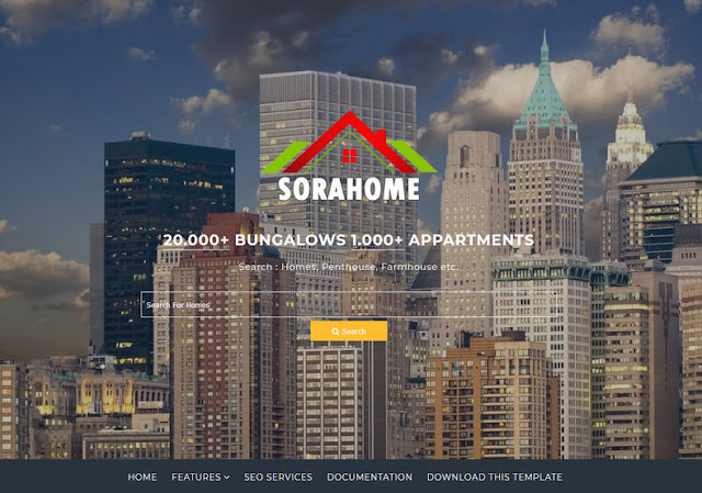 Sora Home Blogger Template