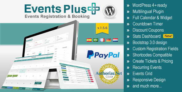WordPress Events Calendar Registration & Booking v1.6.4
