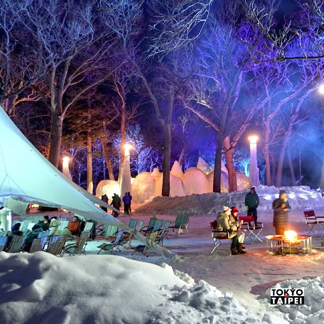 【知床流冰節】在冰雪的露營地烤著棉花糖 躺在吊床上仰望星空