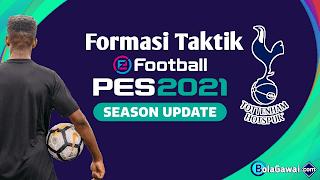 Formasi Taktik Menyerang Terbaik Tottenham Hotspur PES 2021