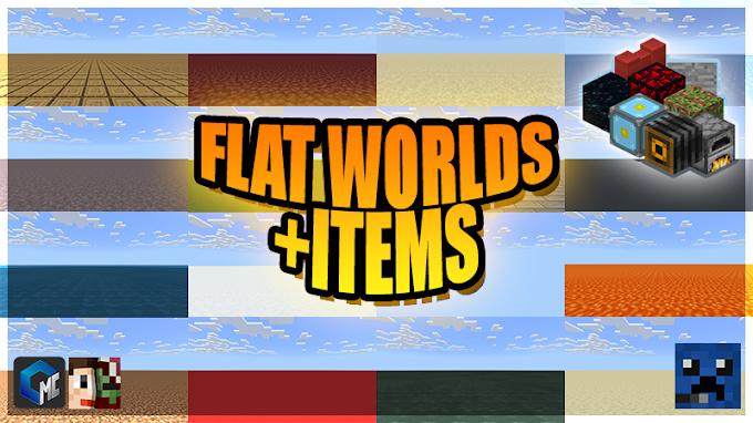 Flat Worlds + Items (Mapa/Custom)