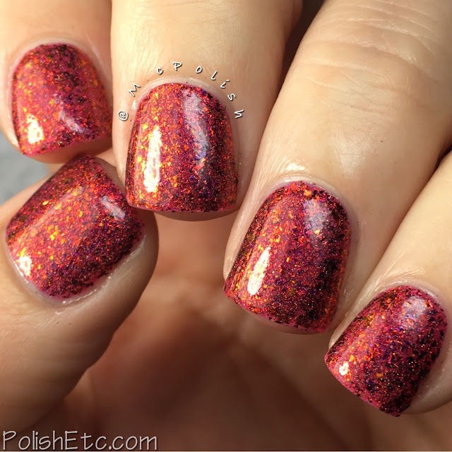 Top Shelf Lacquer - Holiday Flake Out Collection - McPolish - Santa-tini