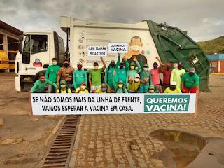 Garis de Guarabira pedem vacinação urgente contra COVID-19 para garantir segurança aos proficiências de limpeza publica