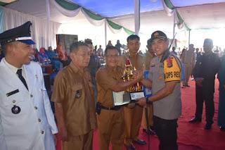 Kapolres Hadiri Pelantikan 102 Kepala Desa Sekabupaten Muara Enim