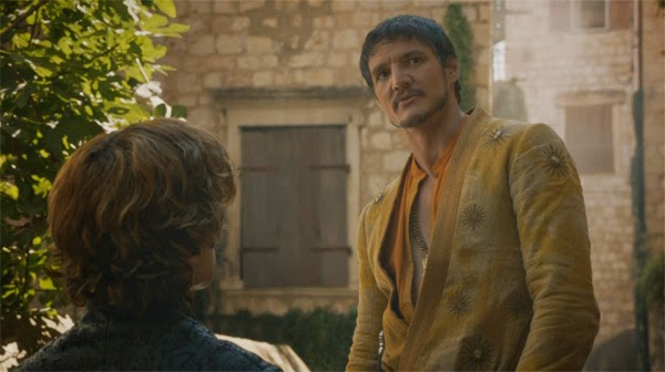Tyrion y Oberyn Martell en Game of Thrones 4x01 (Twi Swords)