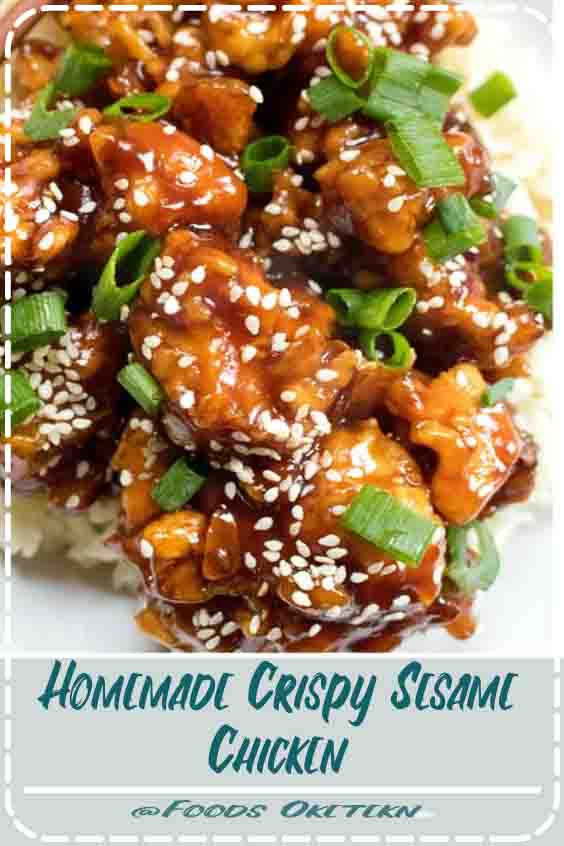 Homemade Crispy Sesame Chicken #Simple #Asian #Chicken #Recipes