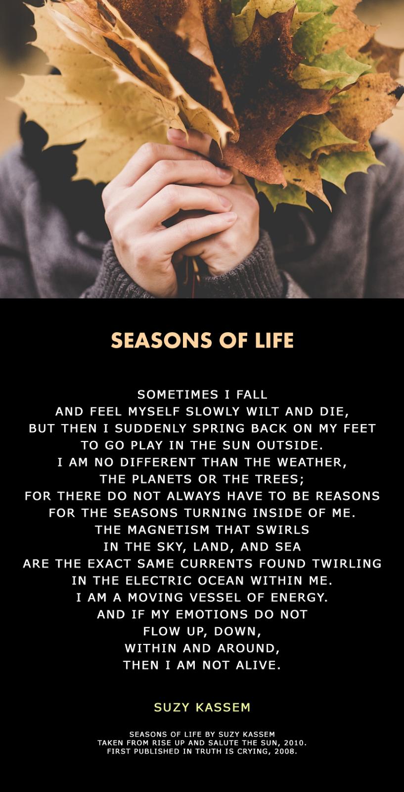 Life Poetry Suzy Kassem