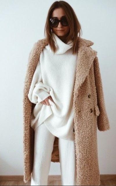 Jak nosić i stylizować grube ciepłe swetry * ponad 30 stylizacji