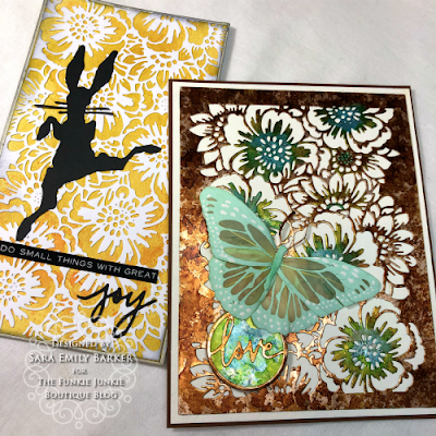 Sara Emily for The Funkie Junkie Boutique https://frillyandfunkie.blogspot.com/2020/01/saturday-showcase-tim-holtz-bouquet.html Tim Holtz Bouquet Curio Box Candy Box  and Card Tutorial 23
