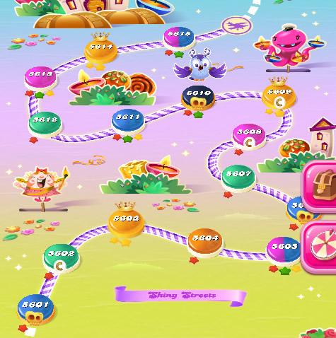 Candy Crush Saga level 5601-5615