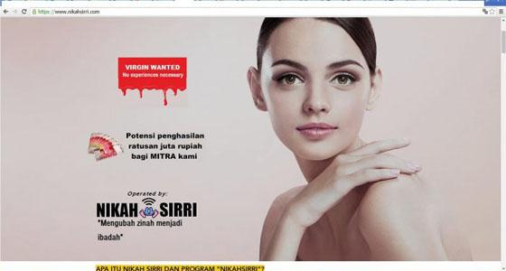 Heboh Situs Nikahsirri Tawarkan Wanita Secara Online Untuk Nikah Siri Jadi Viral