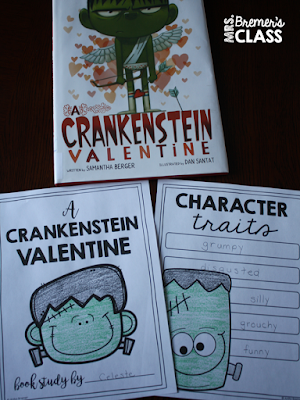 A Crankenstein Valentine book study companion activities. Perfect for a Valentine's Day theme in the classroom! Packed with fun ideas and guided reading literacy activities. Common Core aligned. K-2 #crankenstein #valentinesday #kindergarten #1stgrade #2ndgrade #bookstudy #bookstudies #literacy #bookcompanion #bookcompanions #1stgradereading #2ndgradereading #kindergartenreading #valentinesdaybooks #picturebookactivities #guidedreading