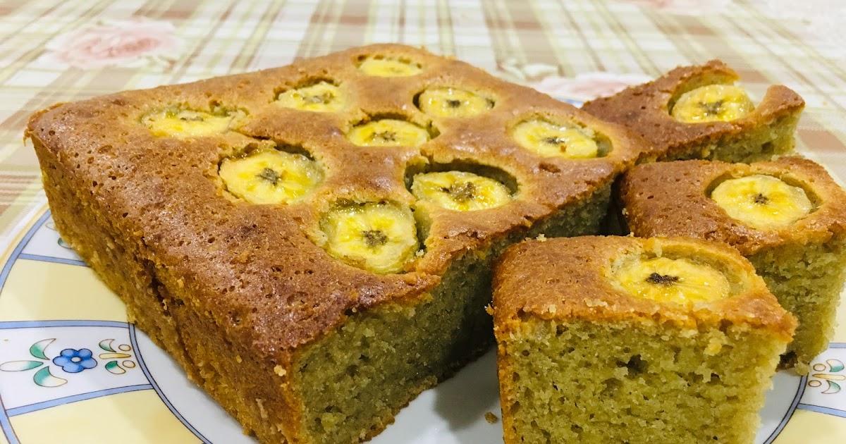resepi kek pisang moist  gebu kebaya lurik Resepi Kek Pisang Gula Hangus Enak dan Mudah