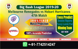 cricket prediction 100 win tips Renegades vs Hobart