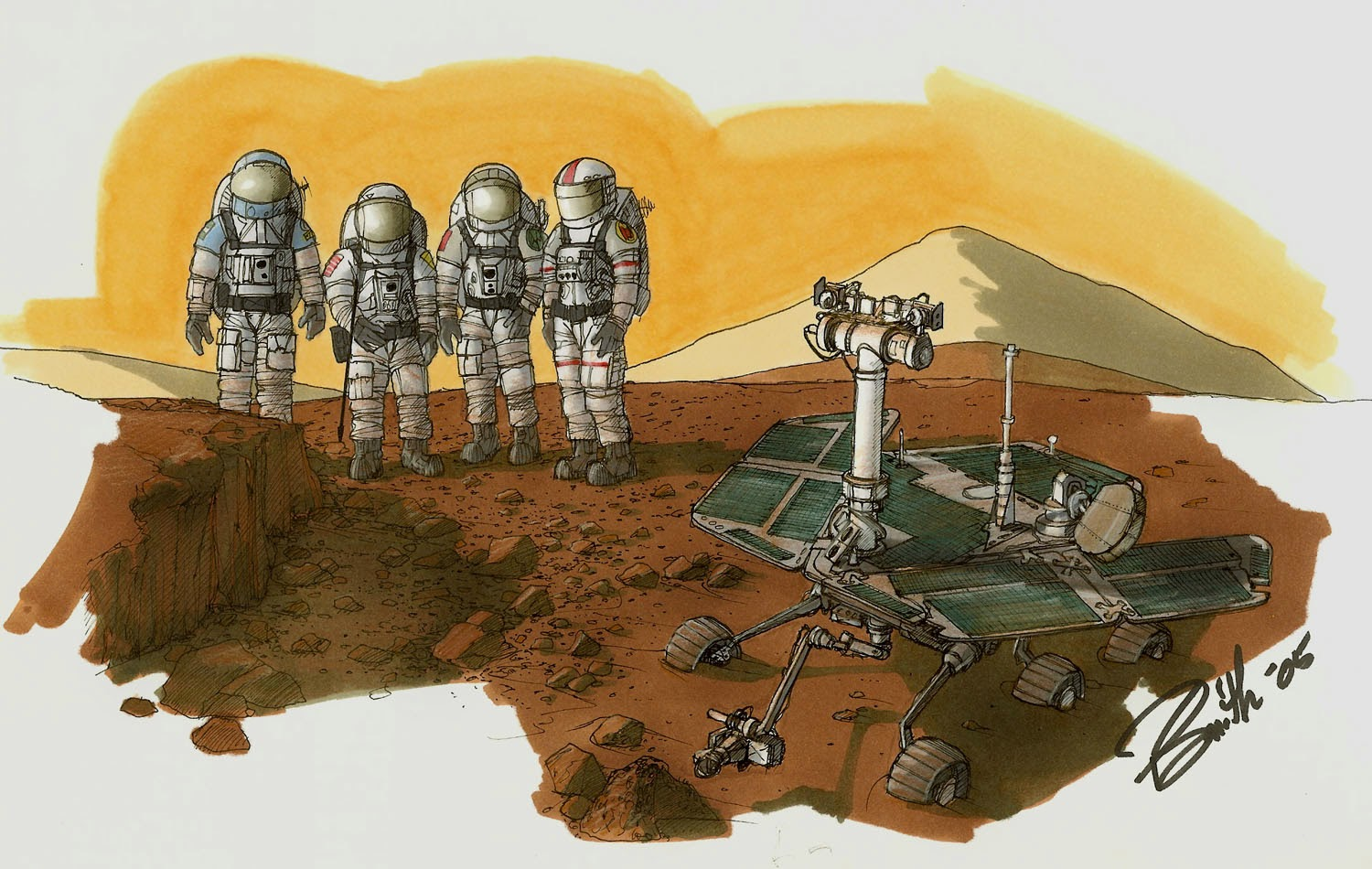 Spirit Mars rover by Phil Smith