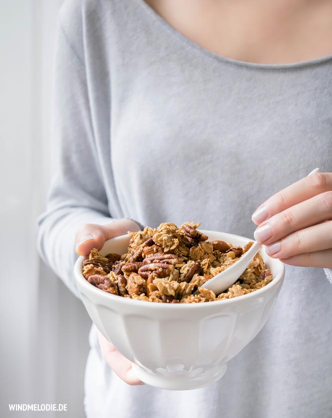 Chai Granola Nuss Knuspermüsli selber machen Rezept