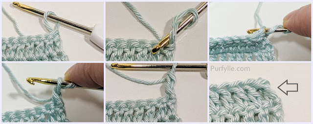Chainless Starting Double Crochet Method