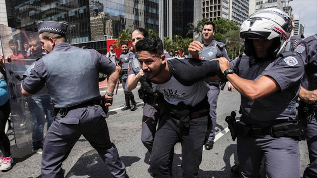 Policía de Brasil arresta a detractores de Trump en Sao Paulo