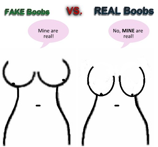 This is how many men prefer fake breasts to the real thing