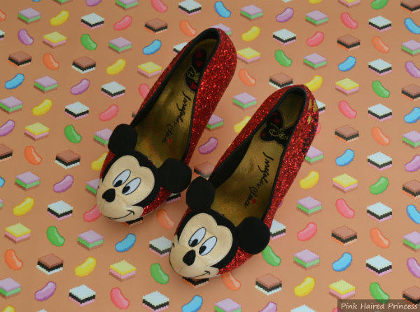 irregular choice mickey mouse glitter heels