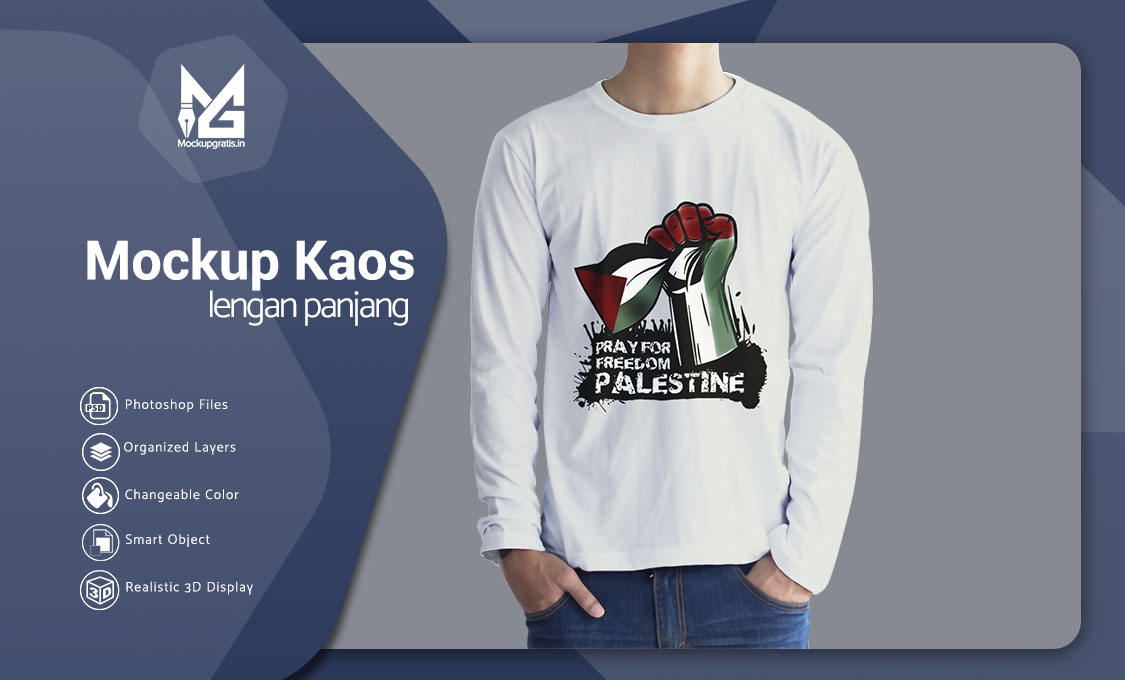 Mockup Custom Kaos Lengan Panjang Gratis