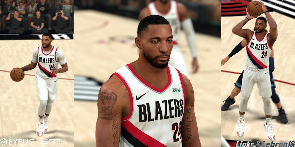 Norman Powell Cyberface, Hair update and Body Model V2 By LeBron Xu & Li Cola [FOR 2K21]
