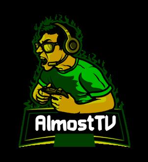AlmostTV logo design