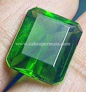 Batu Permata Green Tektite + Memo - ZP 344