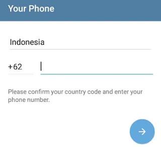 verifikasi akun telegram di hp android