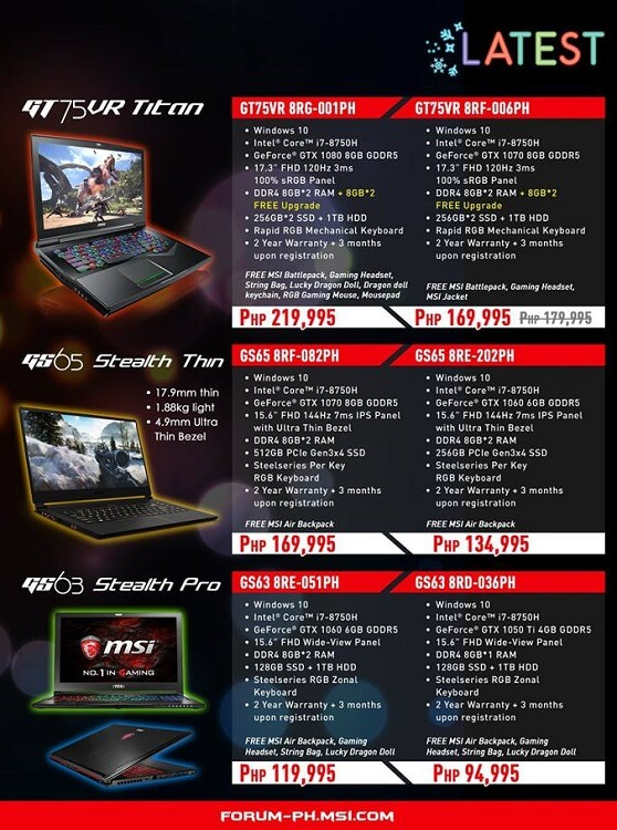 MSI Gaming Laptops