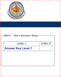 REET-2017 Answer Key Download Level-1