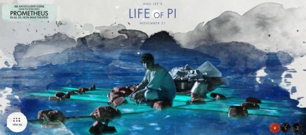 Life of pi teaser trailer for Piscine molitor life of pi